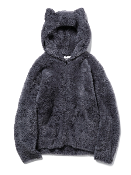 【Halloween限定】 HOMME ネコモコパーカ(GRY-M)