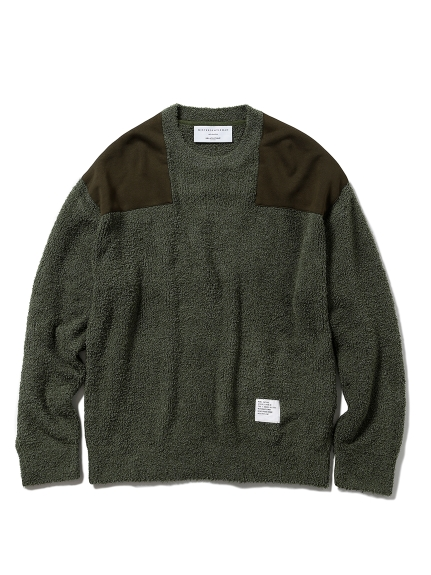 【MISTERGENTLEMAN×HOMME】BAMBOO PATCHED PULLOVER(OLV-M)