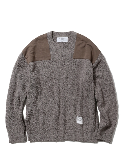【MISTERGENTLEMAN×HOMME】BAMBOO PATCHED PULLOVER(BEG-M)