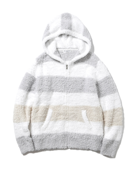 【GELATO PIQUE HOMME】'ジェラート'3ボーダーパーカ(GRY-M)