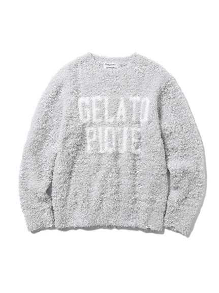 【GELATO PIQUE HOMME】'ジェラート'ロゴプルオーバー(GRY-M)