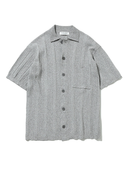 【GELATO PIQUE HOMME】リブメランジモコシャツ(GRY-M)