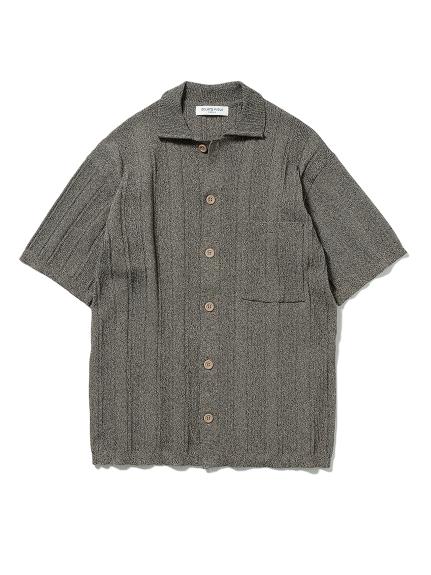 【GELATO PIQUE HOMME】リブメランジモコシャツ(BRW-M)