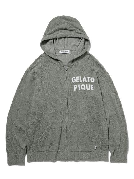 【GELATO PIQUE HOMME】 'スムーズィー'ジャガードパーカ(GRN-M)