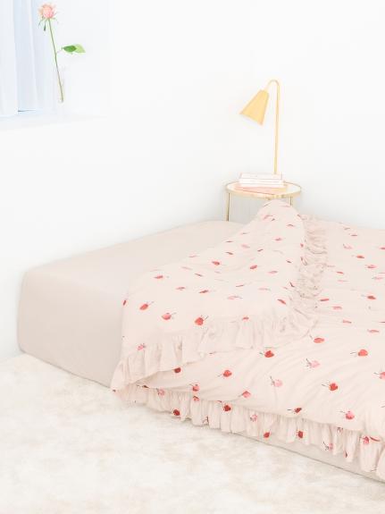 【Sleep】(セミダブル)ストロベリーモチーフ掛け布団カバー