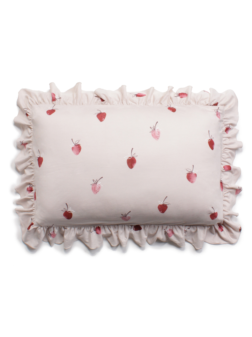 【Sleep】ストロベリーモチーフ枕カバー