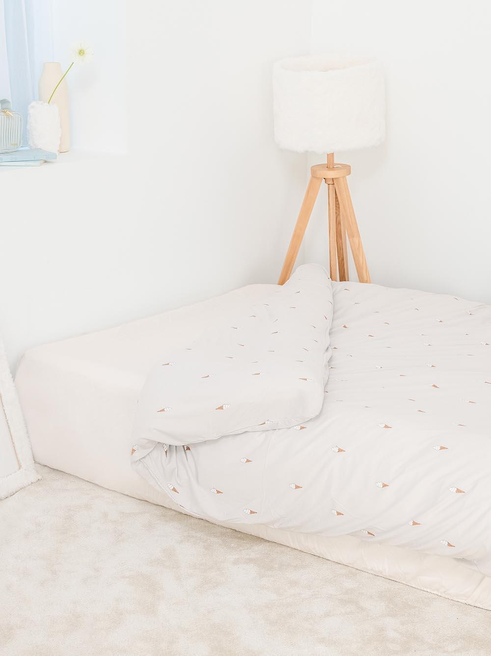 【Sleep】(セミダブル)アイスモチーフ掛け布団カバー(BLU-SD)