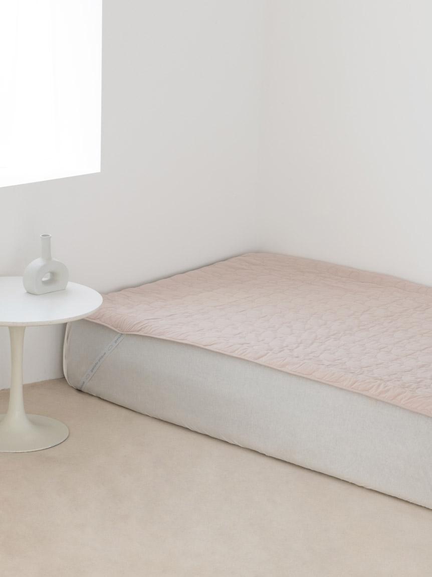 【Sleep】(セミダブル)アイス柄COOLベッドパッド(PNK-SD)
