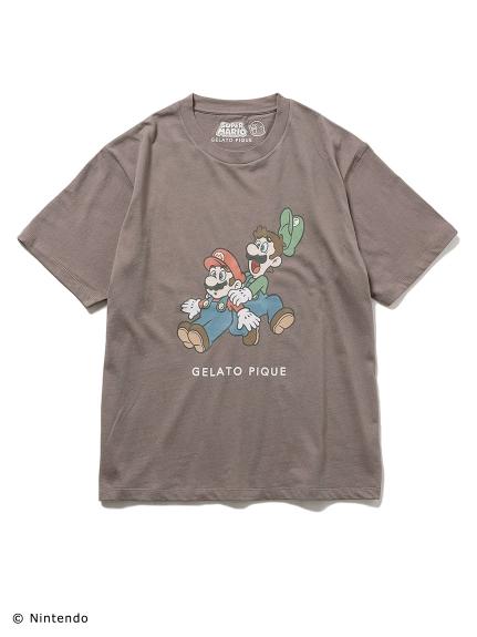 【スーパーマリオ】 【ユニセックス】 キャラクターTシャツ(GRY-F)