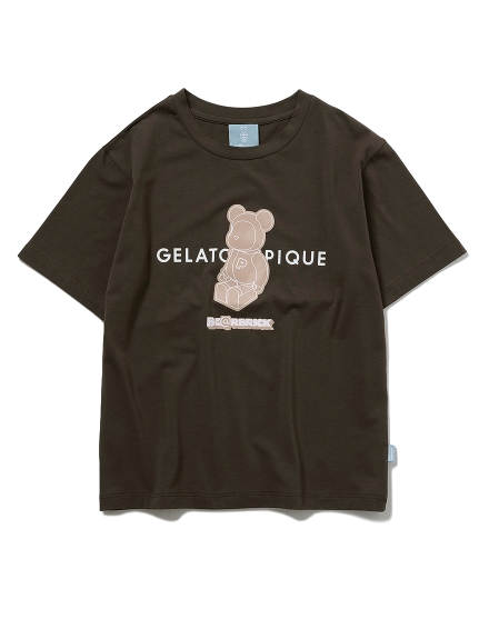 【BE@RBRICK】【ユニセックス】ワンポイントTシャツ(GRY-(S-M))