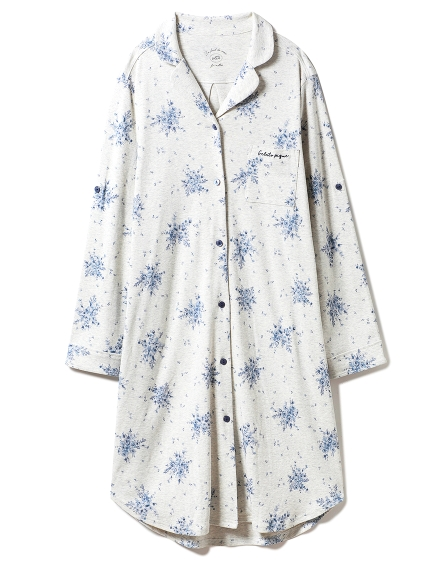 フラワーマタニティシャツドレス