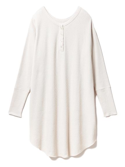 ハニカムヘンリーネックドレス(BEG-F)