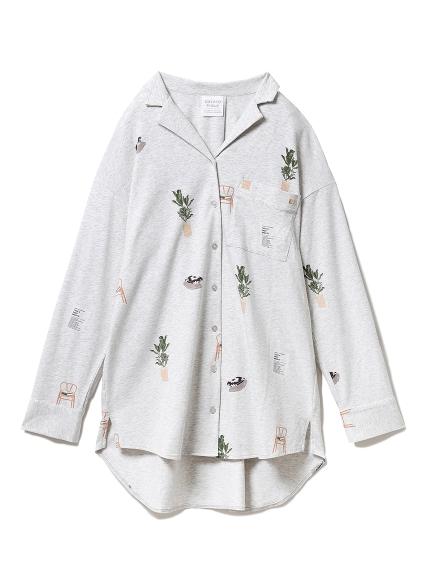 インテリアモチーフシャツドレス(GRY-F)