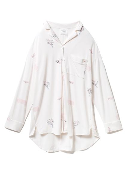 インテリアモチーフシャツドレス(PNK-F)