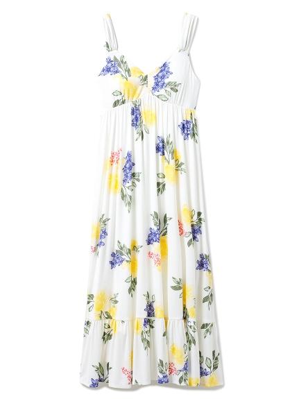 フルーツフラワーロングドレス