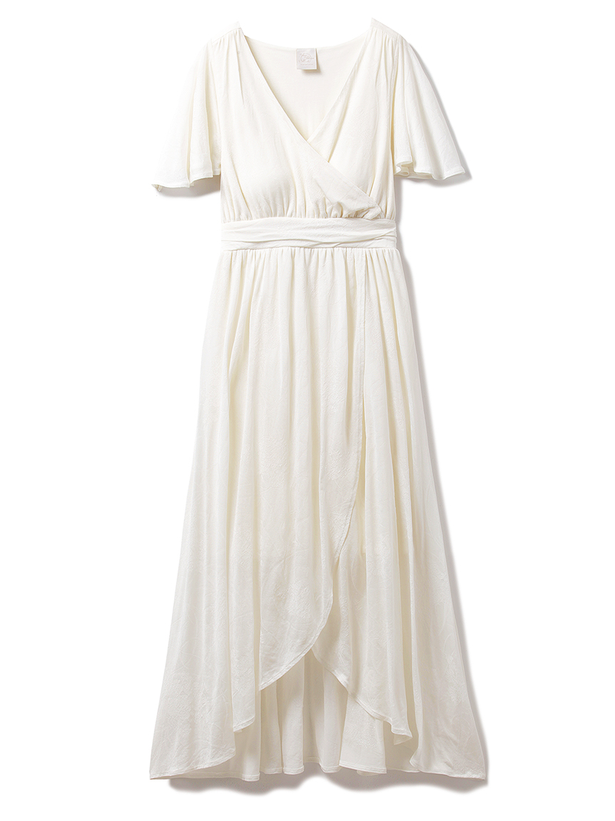 【ミュシャと四つの花】カーネーションジャガードドレス(OWHT-F)