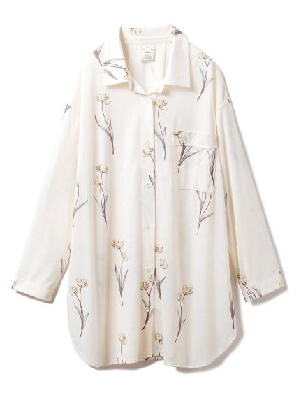 クリアフラワーシャツドレス(YEL-F)