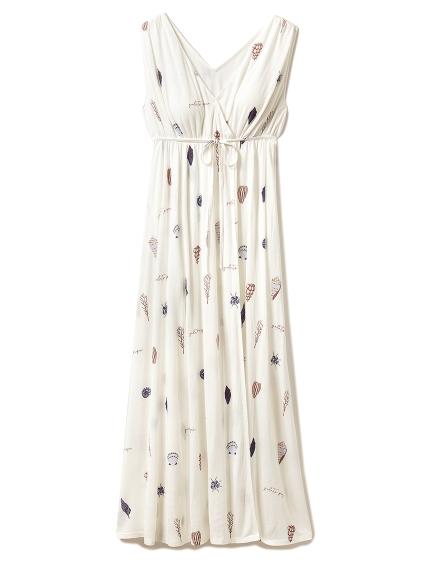 シェルモチーフロングドレス