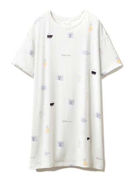 ピケグッズモチーフドレス(BLU-F)
