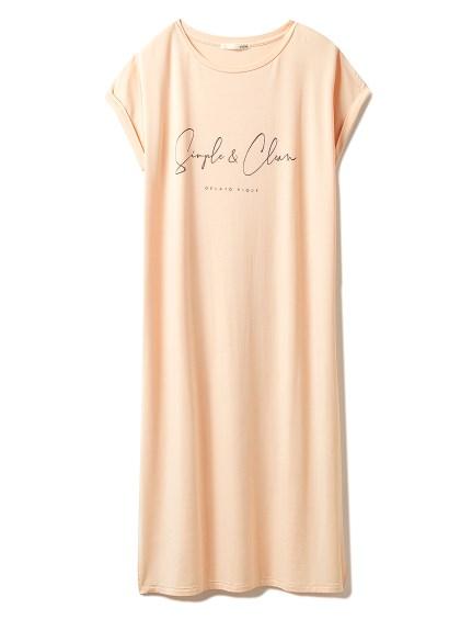 シンプルレーヨンロゴドレス