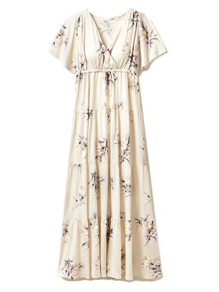 ビッグフラワーロングドレス