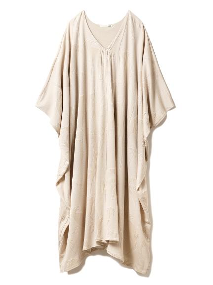 パイルジャガードロングドレス(BEG-F)
