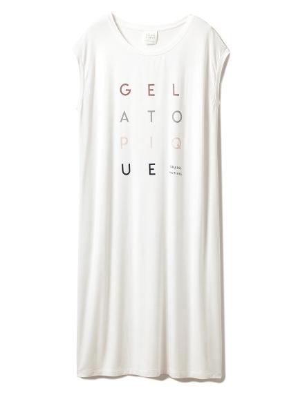 デオドラントロゴフレンチスリーブドレス(OWHT-F)