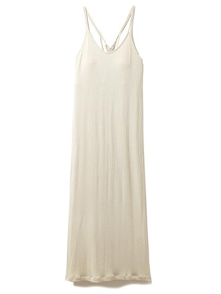 リブキャミソールロングドレス