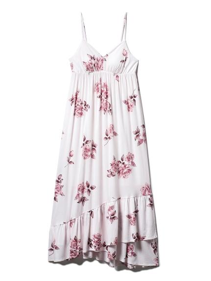 ヴィンテージローズキャミソールロングドレス