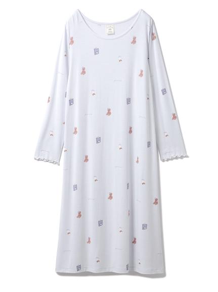 3柄モチーフドレス(BLU-F)