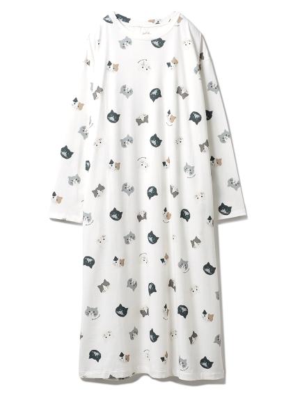 ネコモチーフドレス