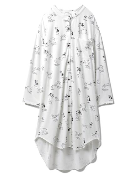 DOGモチーフシャツドレス