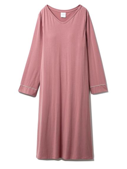 モダールVネックドレス(PNK-F)