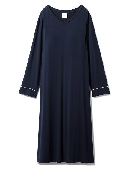 モダールVネックドレス(NVY-F)