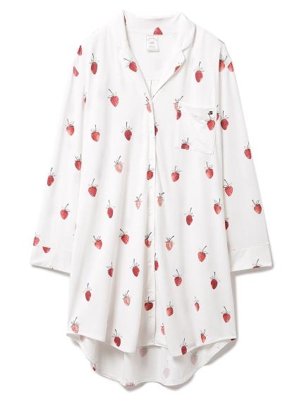 ストロベリーモチーフシャツドレス