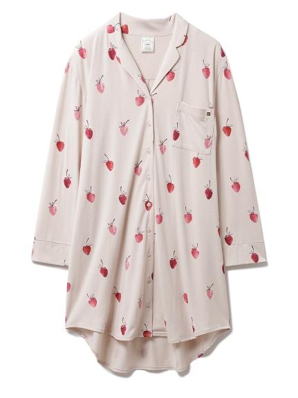 ストロベリーモチーフシャツドレス(BEG-F)