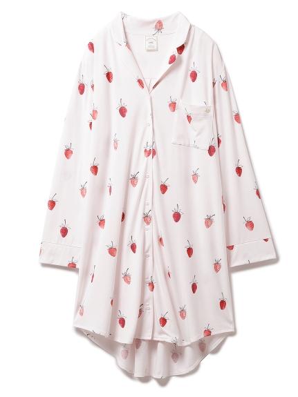 ストロベリーモチーフシャツドレス(PNK-F)