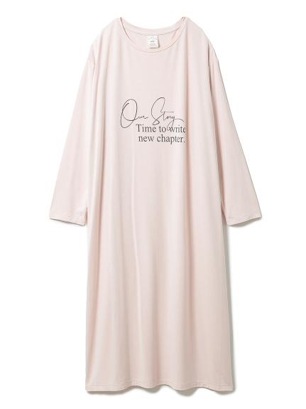 スプリングレーヨンロゴドレス