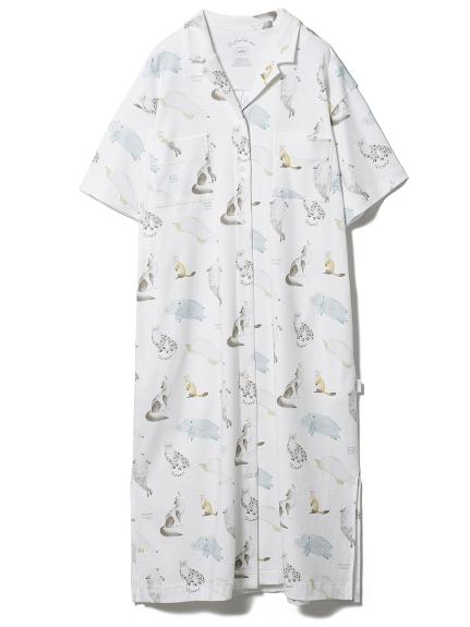 【旭山動物園】アニマルモチーフシャツドレス(OWHT-F)
