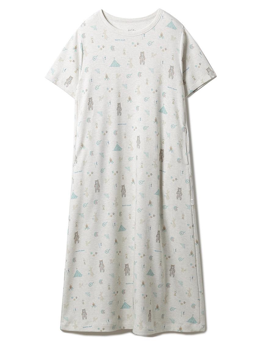 アニマルキャンプモチーフドレス(GRY-F)