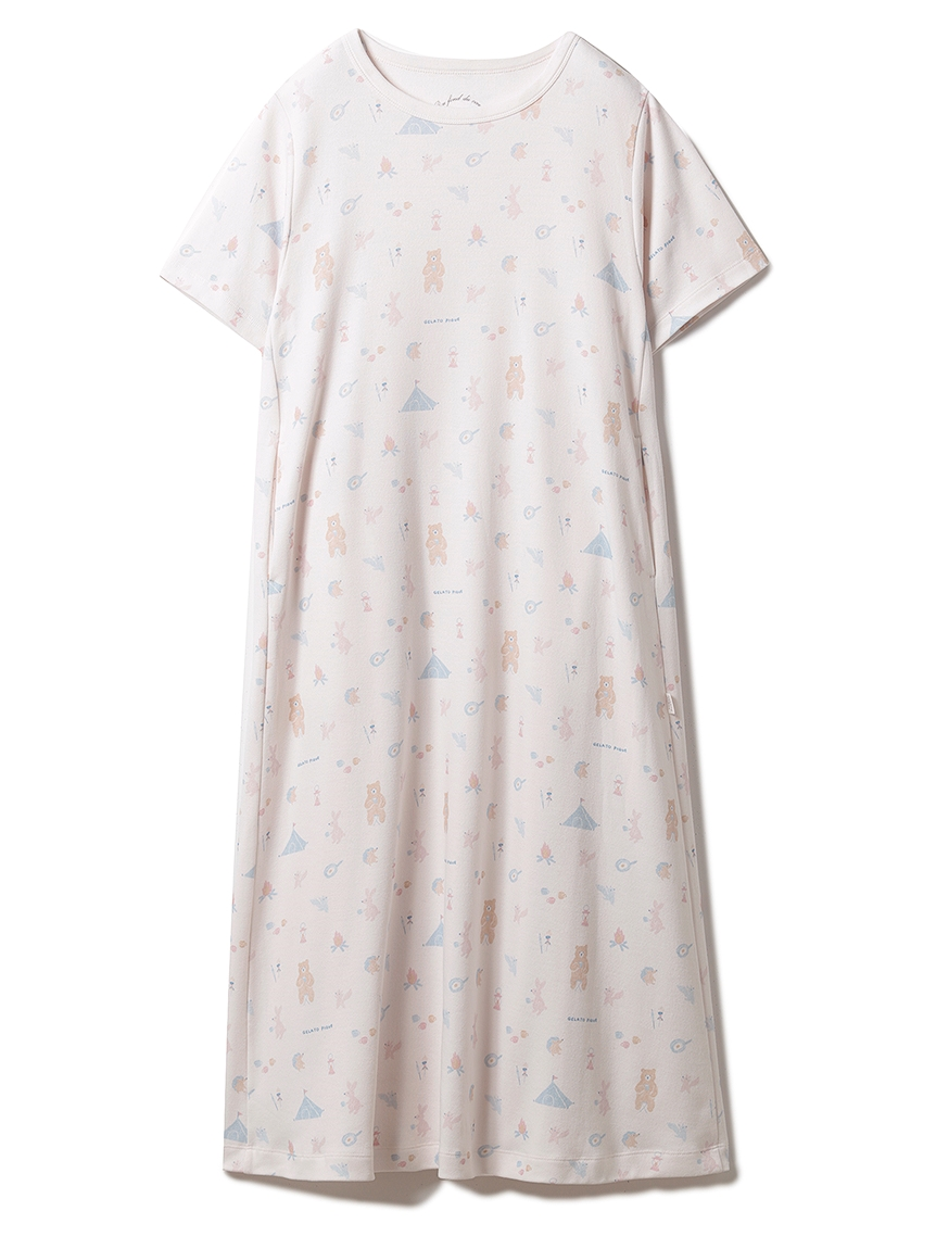 アニマルキャンプモチーフドレス(PNK-F)