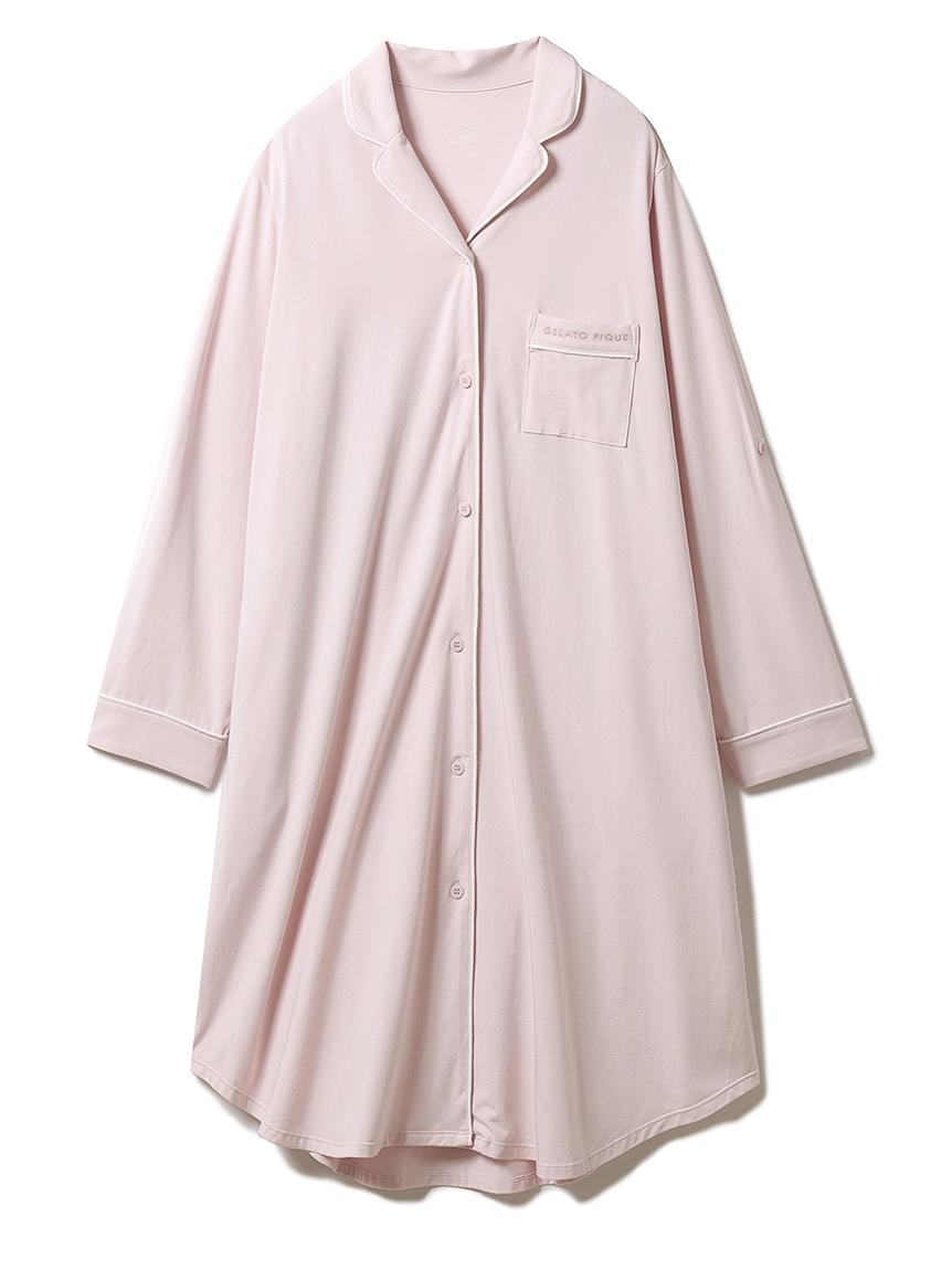 マタニティパイピングシャツドレス(PNK-F)