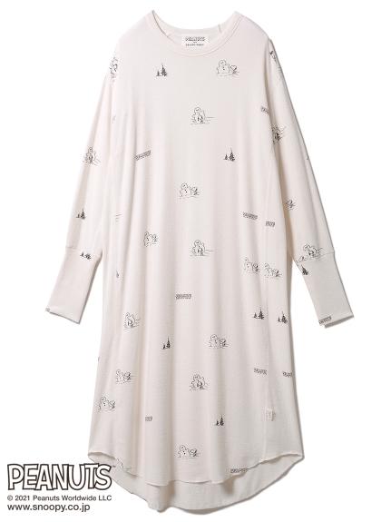 【PEANUTS】総柄ドレス(OWHT-F)