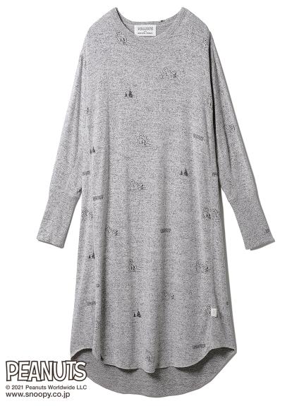 【PEANUTS】総柄ドレス(GRY-F)