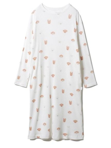 メレンゲドッグ柄ドレス(OWHT-F)
