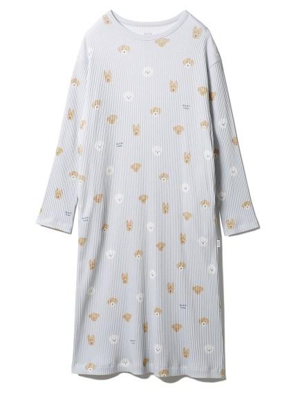 メレンゲドッグ柄ドレス(BLU-F)