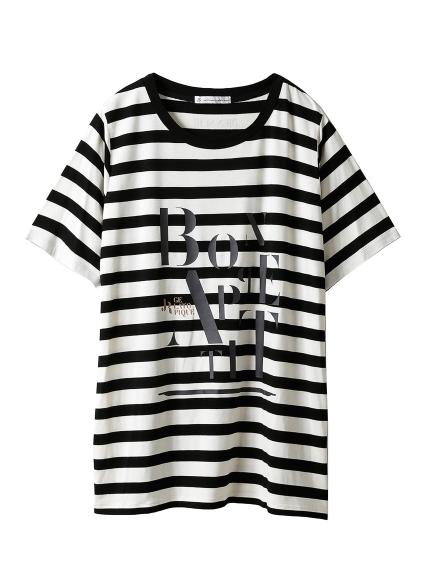 【JoelRobuchon&gelatopique】シルクロゴTシャツ(BLK-F)