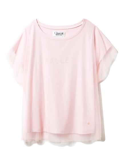 【Chacott】チュールコンビTシャツ(PNK-F)