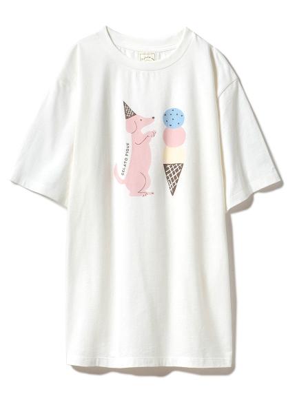 アイスクリームアニマルワンポイントTシャツ