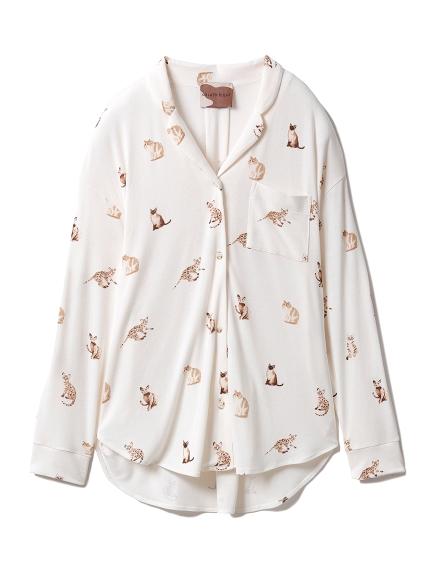 キャットモチーフシャツ(OWHT-F)